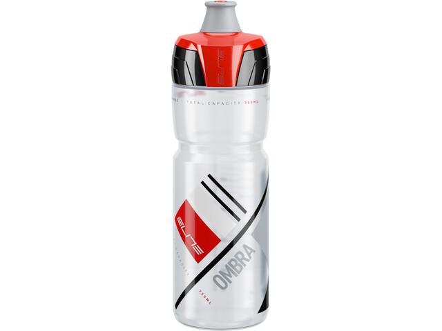Elite Ombra Drinking Bottle 750ml, transparent/red